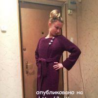 Вязаное пальто. Работа Натальи