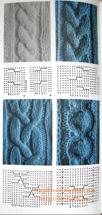 Вязание жгутов и кос. Вязание спицами.