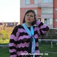 Двухцветный пуловер. Работа Светланы Шевченко (Sova Fotina)