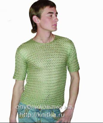 Мужская кофта. Вязание спицами.