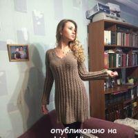Платье спицами. Работа Натальи