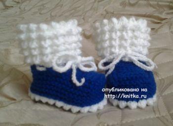 Вяжем пинетки спицами пинетки для новорожденного мальчика