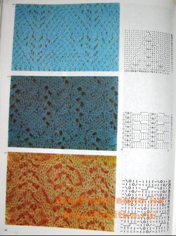 Ажурное вязание спицами. Вязание спицами.