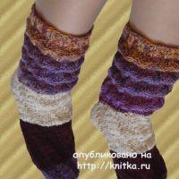 Носочки с пышными складками. Работа Сауле Вагаповой