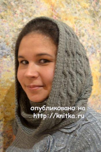Шарф – труба спицами. Работа Анны Кузнецовой. Вязание спицами.