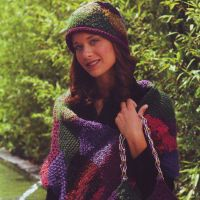 Вязаный шарф, шапка и сумка