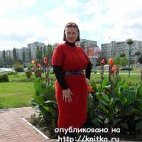 Вязаное платье с аранами. Работа Светланы Шевченко