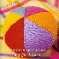 Вязаная игрушка – звенящий мячик