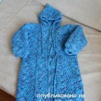 Детский спальный мешок спицами. Работа Светланы Шевченко
