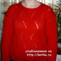 Женский пуловер. Работа Елены Антиповой