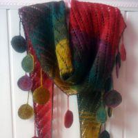 Вязаный шарф – косынка. Работа Лилии