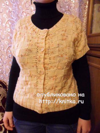 Схема женского жилета спицами от Светланы Шевченко