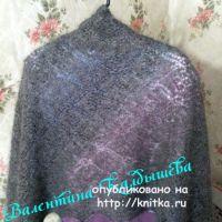 Оренбургский пуховый платок. Работа Валентины Калдышевой