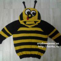 Джемпер Пчелка. Работа Галины