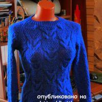 Синий джемпер. Работа Марины Ефименко
