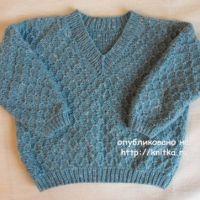Пуловер для мальчика. Работа Светланы Шевченко