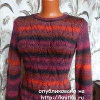 Пуловер из секционной пряжи. Работа Марины Ефименко