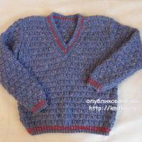 Пуловер для мальчика спицами. Работа Светланы Шевченко