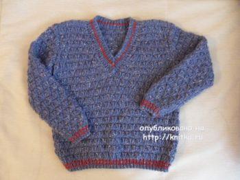 Пуловер для мальчика спицами. Работа Светланы Шевченко. Вязание спицами.