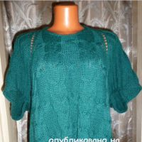 Пуловер - пончо спицами. Работа Марины Ефименко