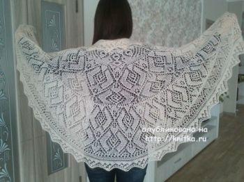 Схемы вязания шали - накидки спицами