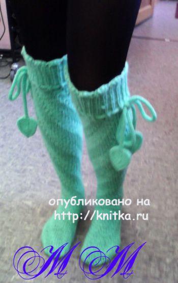 Гольфы спицами. Работа Марины Михайловны. Вязание спицами.
