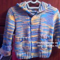 Вязаная курточка для мальчика. Работа Ивановой Светланы