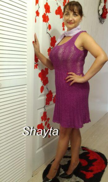 Летнее платье спицами Лилу