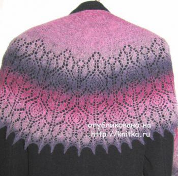 Схемы вязания шали Аромат роз