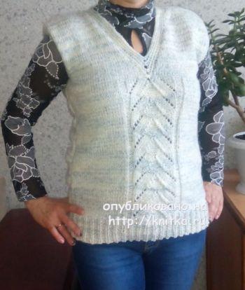 Схемы вязания жилета спицами от Валерии