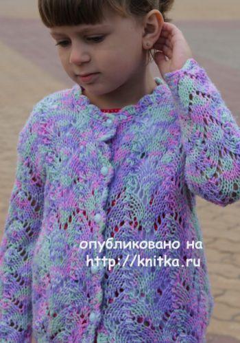 Детский комплект Радужный. Работа Светланы Шевченко. Вязание спицами.
