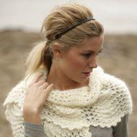Женский шарф – вязание спицами