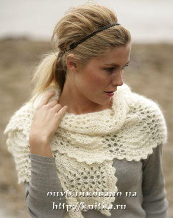 Женский шарф – вязание спицами. Вязание спицами.