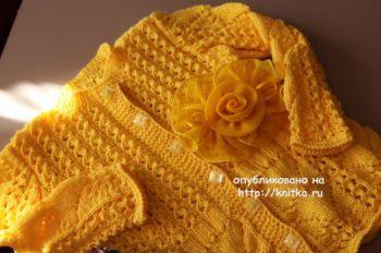 Вязаная кофточка Золотая бабочка