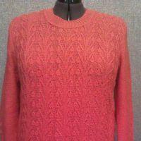 Женский пуловер спицами. Работа TatVen