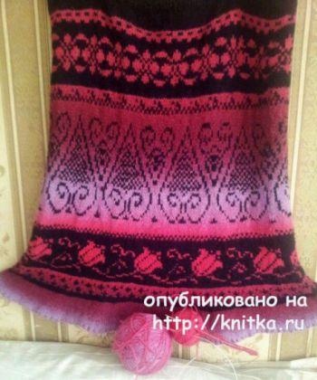 Вязаная спицами юбка из Кауни от Маргариты