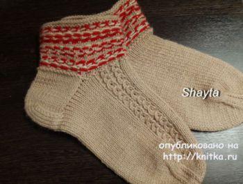 Носочки спицами. Работа Оксаны Усмановой. Вязание спицами.