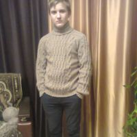 Мужской свитер спицами. Работа Татьяны Ивановны