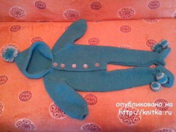 Детский комбинезон для новорожденных спицами от Ивановой Светланы
