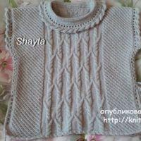 Пончо – пуловер Shayta для девочки. Работа Оксаны Усмановой