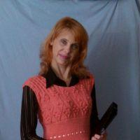Женское платье спицами. Работа Ирины