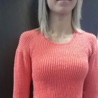Женский пуловер спицами. Работа Ольги Ярославской