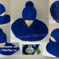 Женская шапка и шарф спицами. Работы Анисимовой Светланы