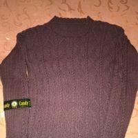 Мужской свитер спицами. Работа Веры Коваль