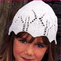 Вязание спицами шапочки для девочки