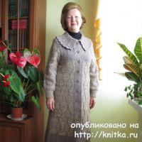 Пальто спицами. Авторская работа Светланы Якимовой