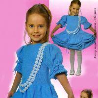 Вяжем спицами нарядное платье