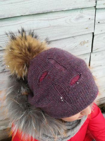 Шапка Лакшери рвань от Катерины Бессоновой. Вязание спицами.