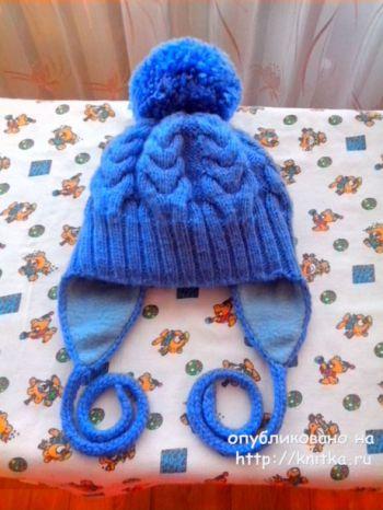 Детская шапка с ушками и снуд от Ивановой Светланы