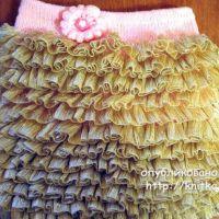 Детская юбка спицами. Работа Марины